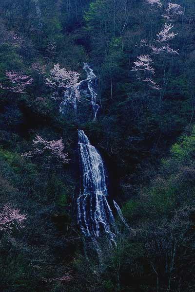 長野市 鬼無里 文殊滝